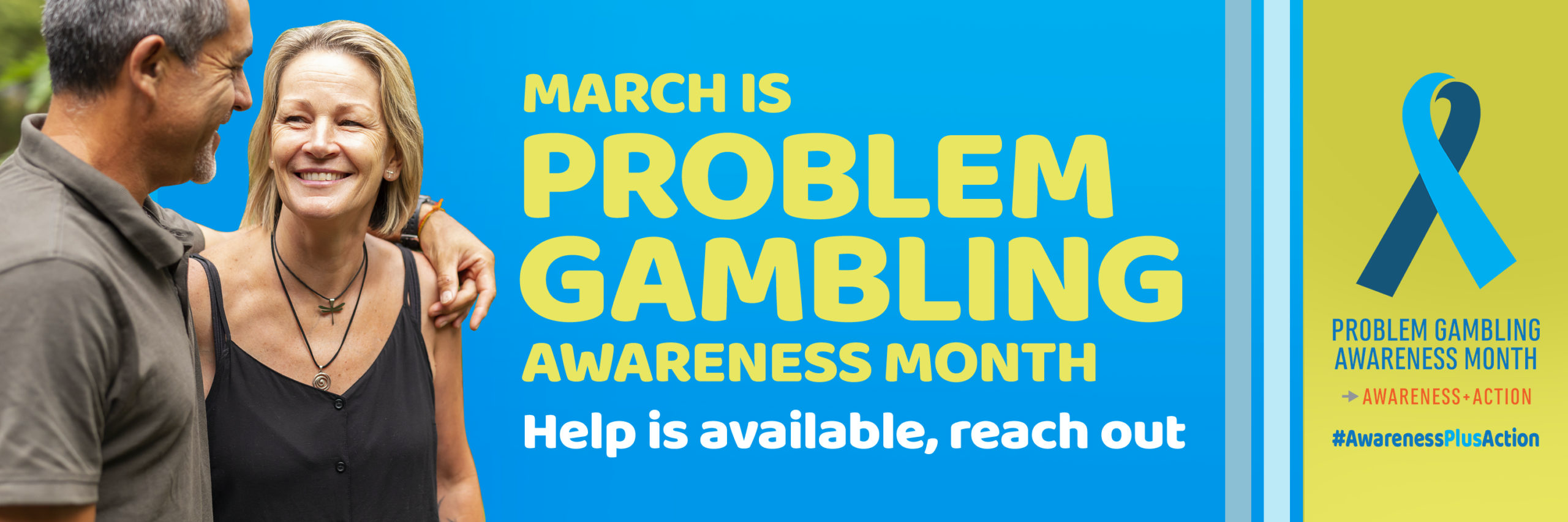 Problem Gambling Awereness Month Banner